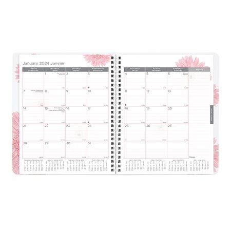 Agenda mensuel Ruban rose (2019)