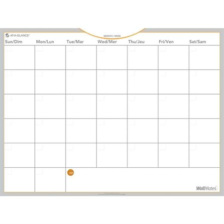 Wallmates® Self-Adhesive Monthly Planning Surface