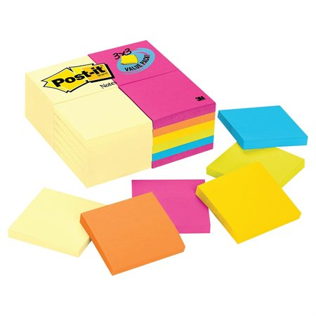 Post-it® Self-Adhesive Notes Value Pack