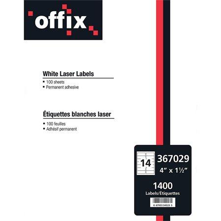 Étiquettes blanches Offix®