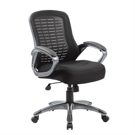 Thick Padded High-Back Mesh Armchair