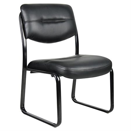 Chaise d'invité en cuir