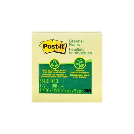 Feuillets autoadhésifs Post-it® recyclés