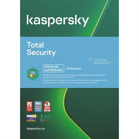 Sécurité total de Kaspersky pour 5 usagers